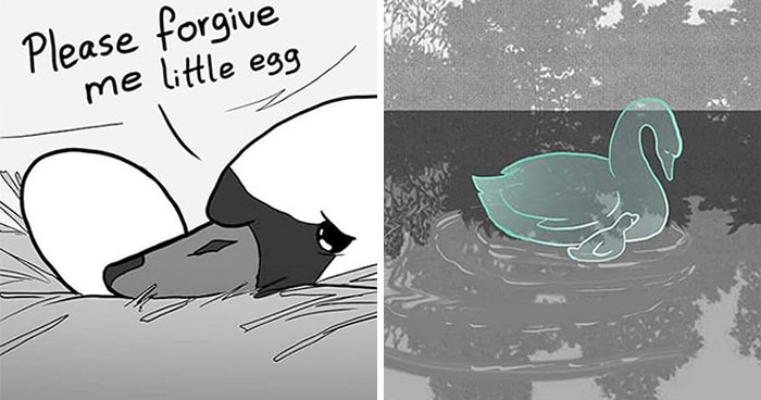Artist Who Makes People Cry With Her Animal Comics Just Released A New One About A Swan Inspired By True Events