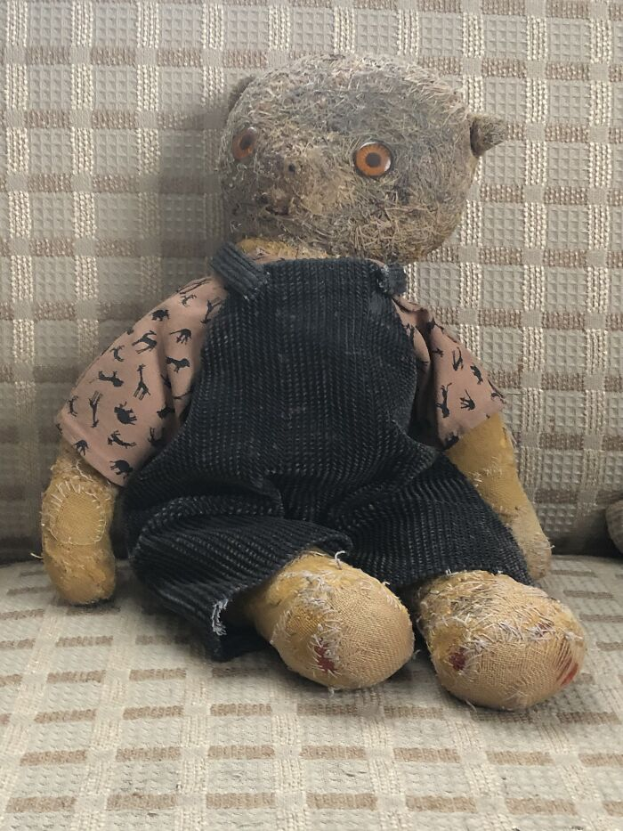 My 56 Year Old Bear ...composed Mainly Of Darning Stitches