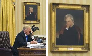 """""""Reacciones peculiares"""" de las obras de arte de La Casa Blanca (9 imágenes)"""