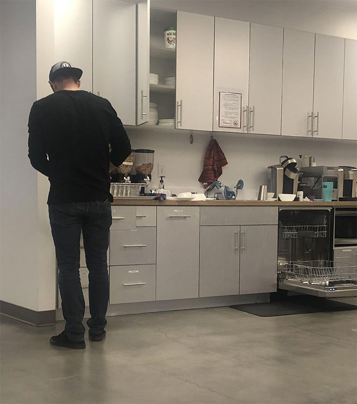 The CEO Of My Company Doing The Dishes After Buying Everyone Lunch. This Is Why I Love My Job