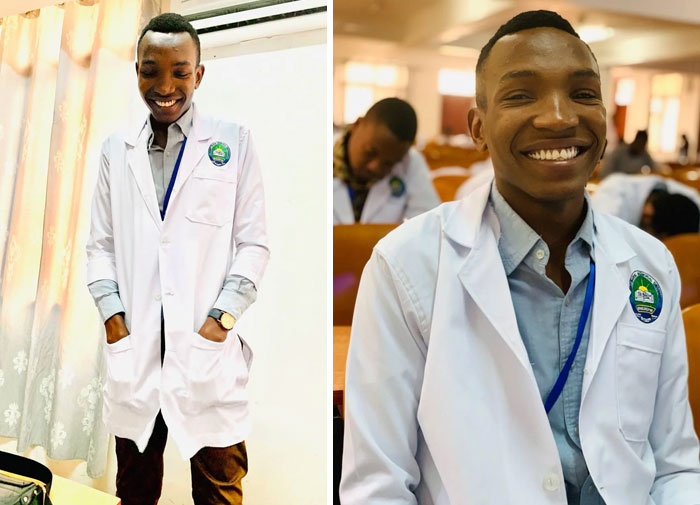 I Met This Kid At An Orphanage In Tanzania A Few Years Ago And Told Him That If He Studied Hard, I'd Pay For His School To Help Him Towards His Dream Of Becoming A Doctor