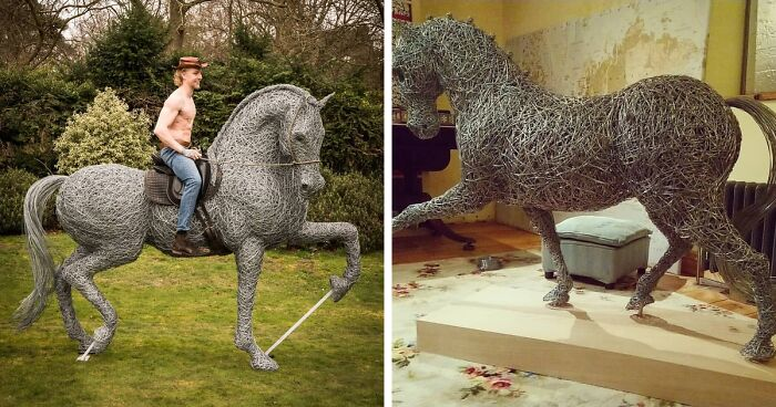 Artist Makes Amazing Animal Sculptures Out Of Galvanized Wire (37 Pics)