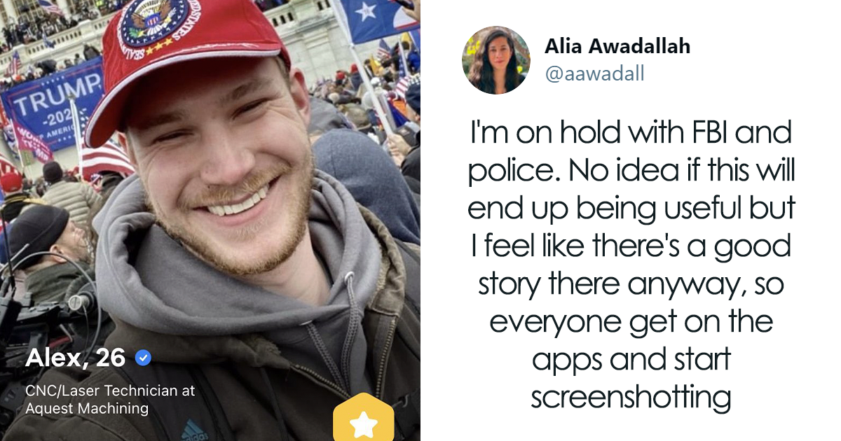 Women Are Using Dating Apps To Get Capitol Rioters To Confess And Turn Them In