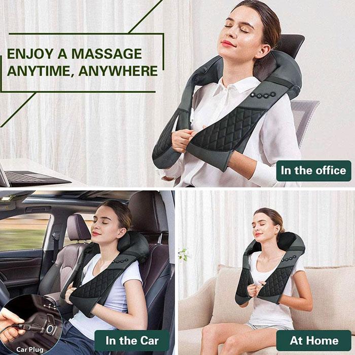 Disfruta de un masaje en un coche en marcha con los ojos cerrados