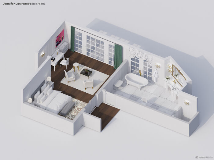 Designer Project Reveals The Interiors Of Celebrity Bedrooms (7 Pics)