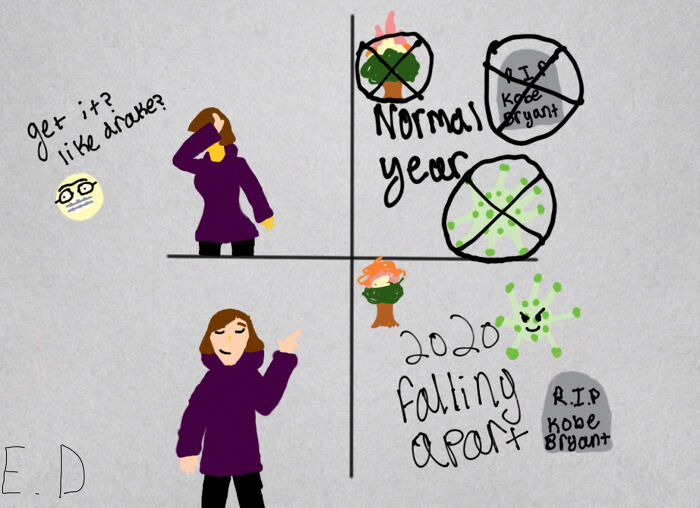 I Had To Draw This One For A School Project, Nine Of My Other Covid Memes Would Fit