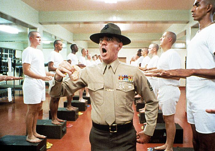 R. Lee Ermey As Gunnery Sergeant Hartman In 'Full Metal Jacket' (1987)
