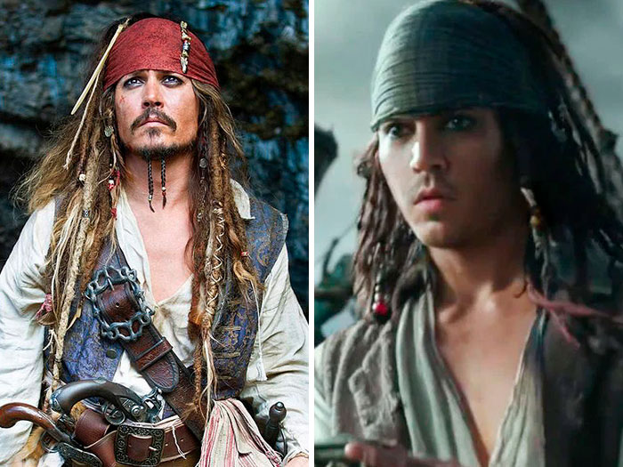 Johnny Depp In 'Pirates Of The Caribbean: Dead Men Tell No Tales' (2015)