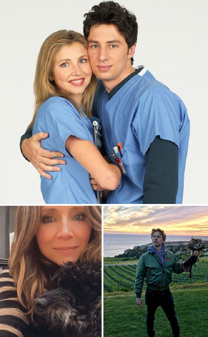 Scrubs, J.D. y Elliot Reid (Zach Braff y Sarah Chalke)