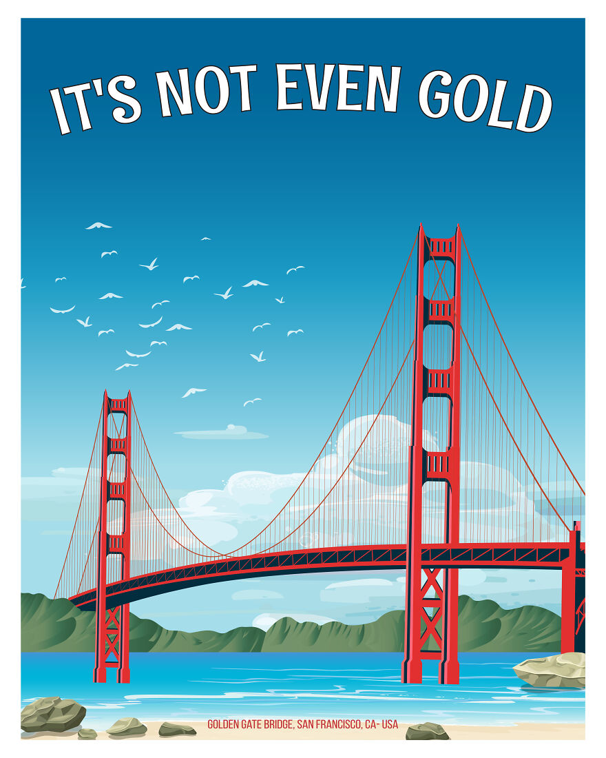 To Be Fair, They Have A Point. Golden Gate Bridge, San Francisco, California