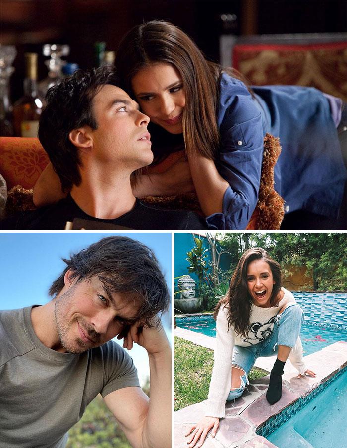 Diarios De Vampiros, Damon Salvatore y Elena Gilbert (Ian Somerhalder y Nina Dobrev)