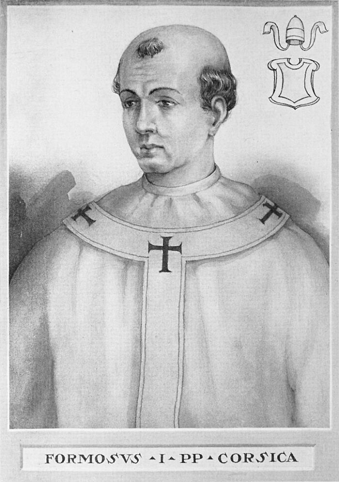 Pope Formosus Who Had Been Dead For 7 Months Was Removed From His Tomb To Be Propped Up And Put On Trial. The Corpse Was Found Guilty And Was Stripped, Had Three Fingers Removed, Then Reburied, Got Dug Up Once Again, Tied To Weights, And Thrown In A River