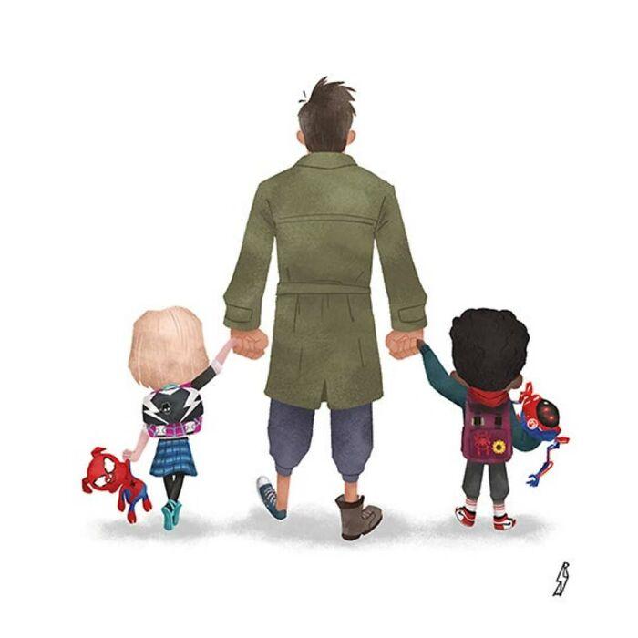 Spider-Man: Into The Spider-Verse (Spider Verse Family)