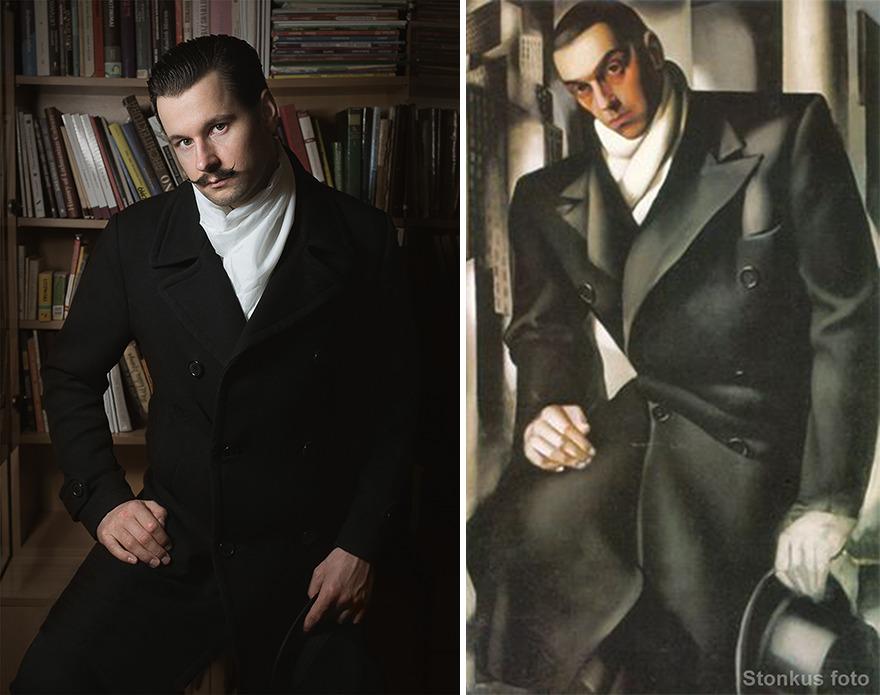 "Tamara De Lempicka ""Portrait Of A Man Or Mr Tadeusz De Lempicki"" (1928)"