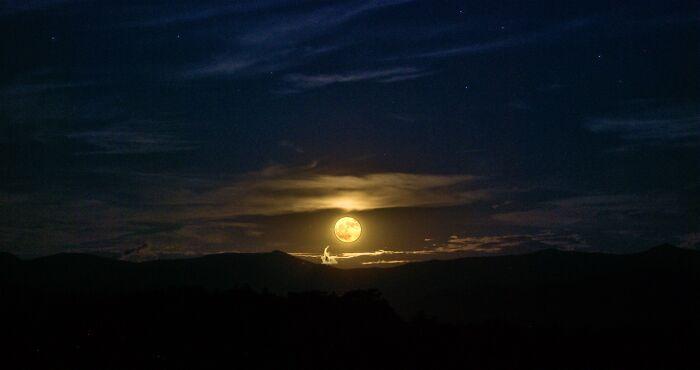 Autumn Full Moon In The Appalachians