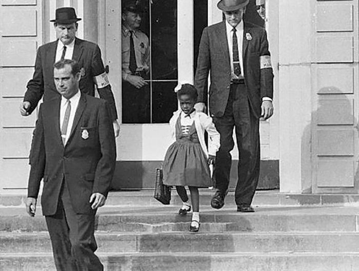 Ruby Bridges - The First African-American Child To Desegregate The All-White William Frantz Elementary School In Louisiana In 1960