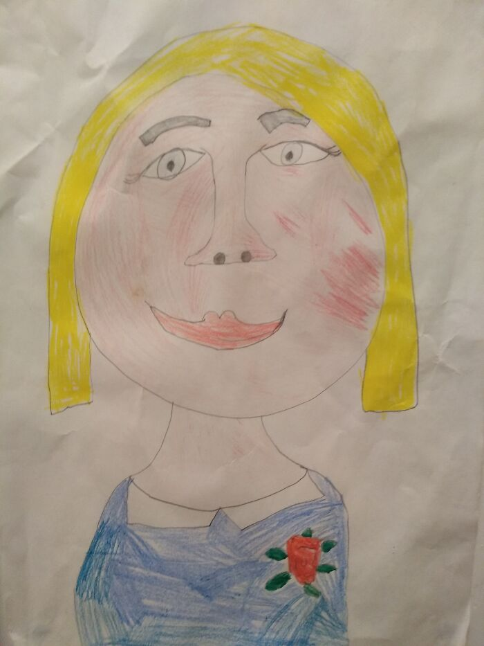 A Self Portrait I Did When I Was 6