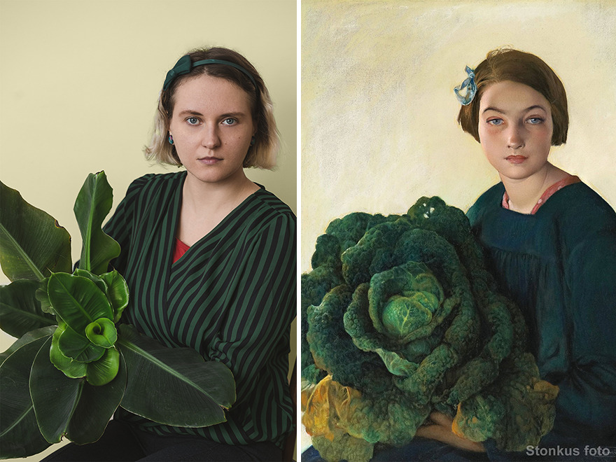 """Firmin Baes """"The Young Girl And The Cabbage"""" (1903)"""