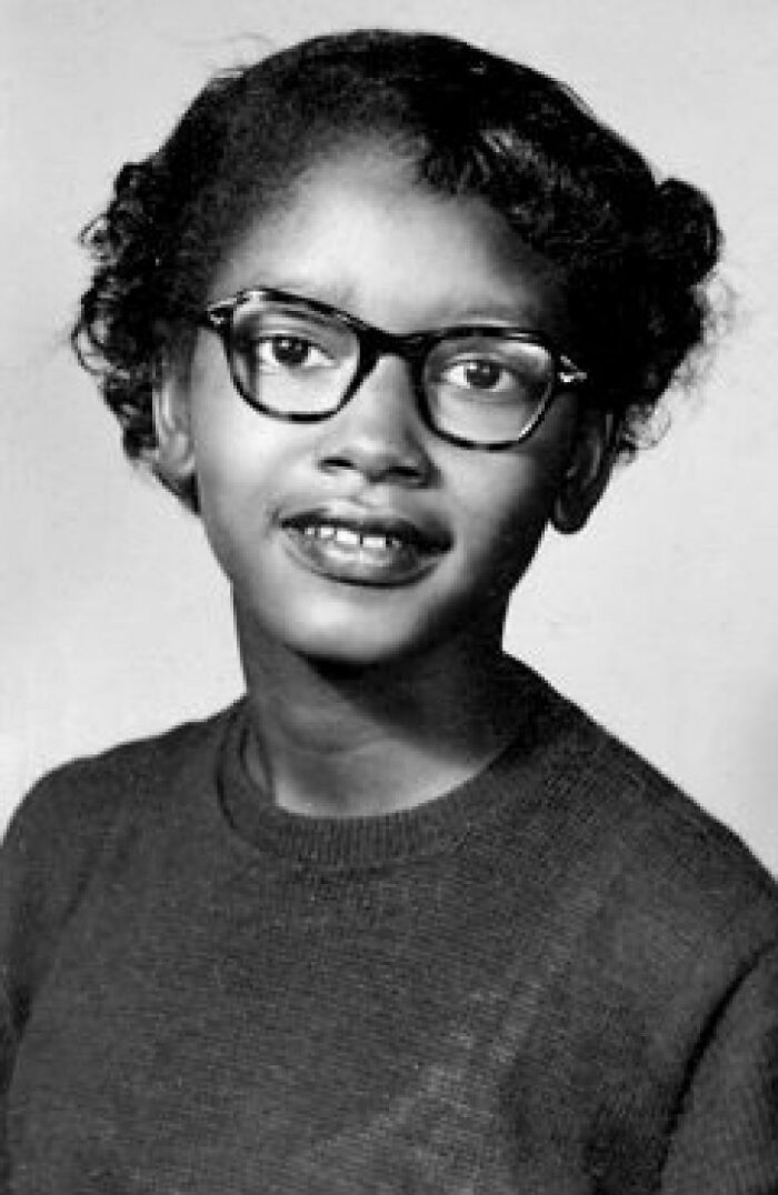 Claudette Colvin - Refused To Give Up Her Bus Seat To A White Woman In 1955