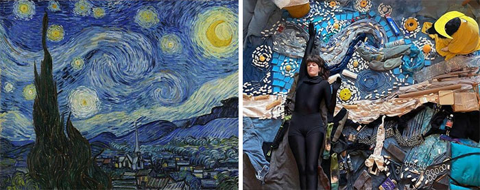 The Starry Night, 1889 By Vincent Van Gogh vs. The Starry Night, 2021