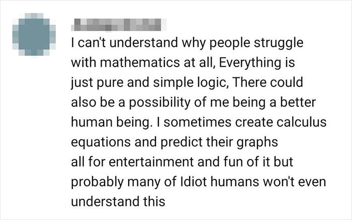 Good In Math = Better Human