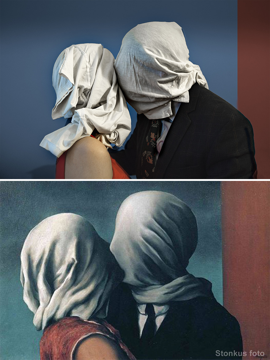 """René Magritte """"The Lovers"""" (1928)"""