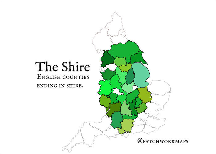 The Shire - English Counties Ending In 'Shire'