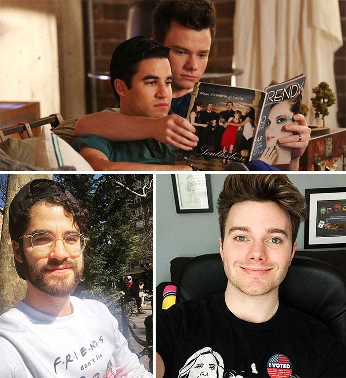 Glee, Blaine y Kurt (Darren Criss y Chris Colfer)