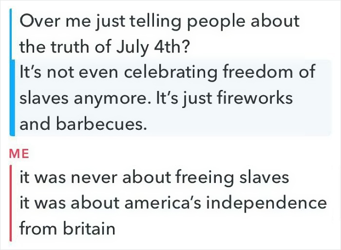 Someone's Hot Take On The 4th Of July Was Wrong