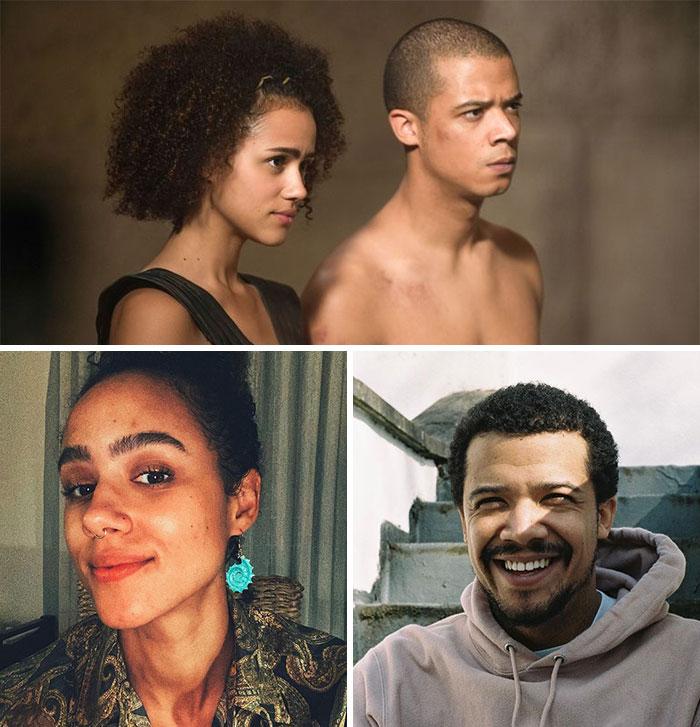 Juego de Tronos, Gusano Gris y Missandei (Nathalie Emmanuel y Jacob Anderson)