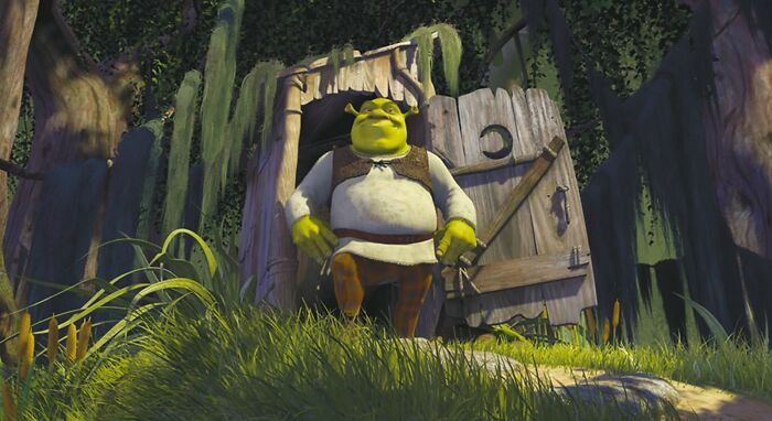 """Til That Despite Increases In Computer Power, Each Shrek Film Has Taken About Twice As Many Hours To Render As The One Before It. Dreamworks Calls This """"Shrek's Law"""""""