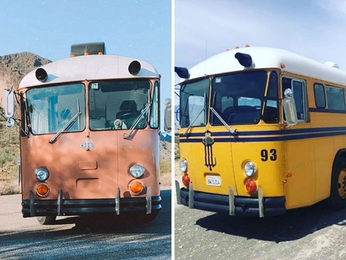 Couple Bought A School Bus For $7,500, Spent Another $42,500 To Transform It Into A Cool 298 sq ft House On Wheels