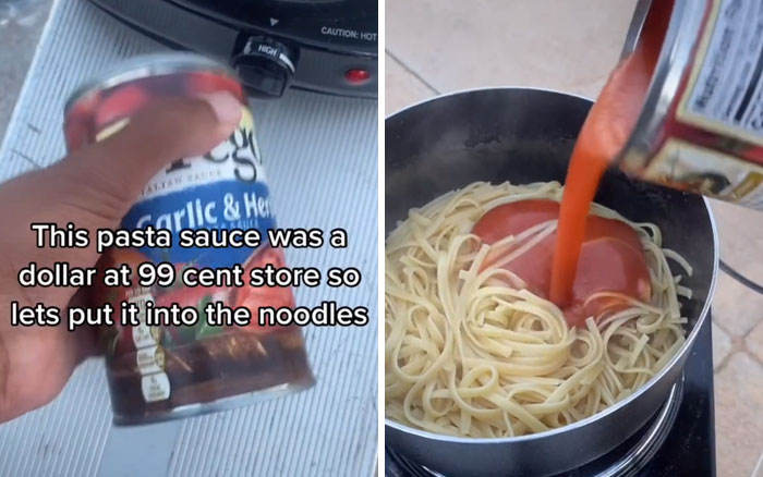 Homeless Teen Reveals How He Cooks His Meals Outside