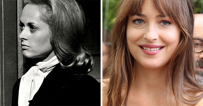 Tippy Hedren And Dakota Johnson