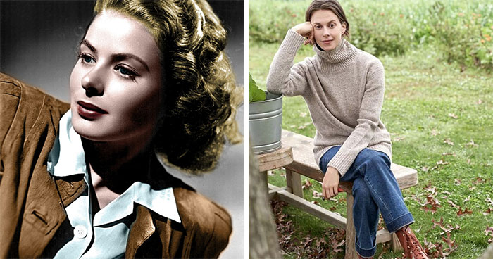 Ingrid Bergman And Elettra Wiedemann