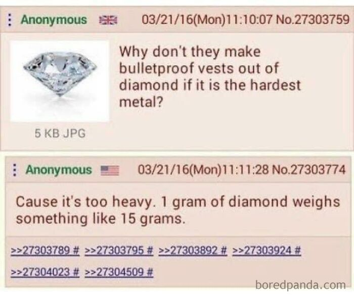 Diamonds Are Heavier Than... Diamonds?