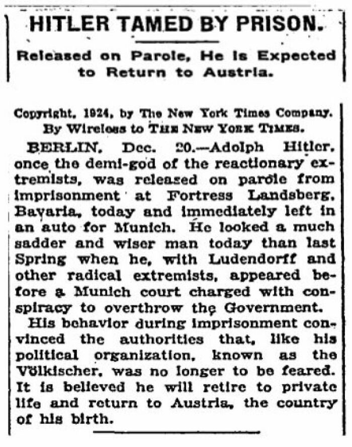 New York Times Article From 1924