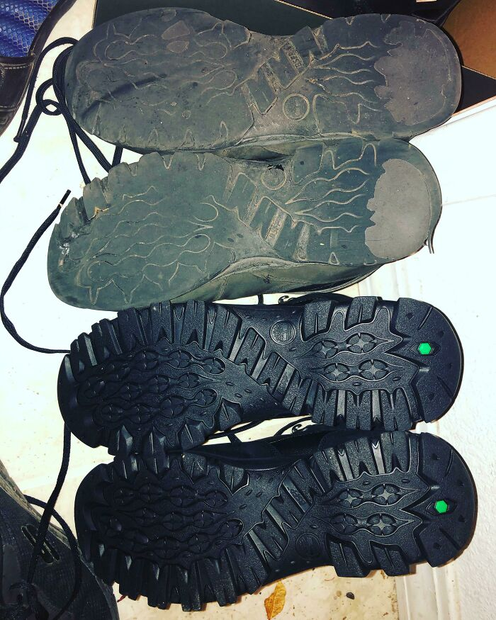 I'm A Mailman And I Walk Around 11 Miles A Day. My Old Boots Are From Mid March