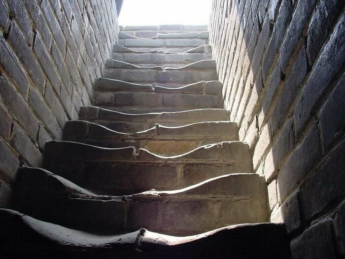 Stairs On The Great Wall Of China. How Many People Do You Think Have Walked On Them?