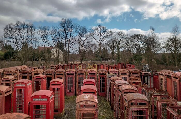 A Cemetery Of Telephone Booths In The UK