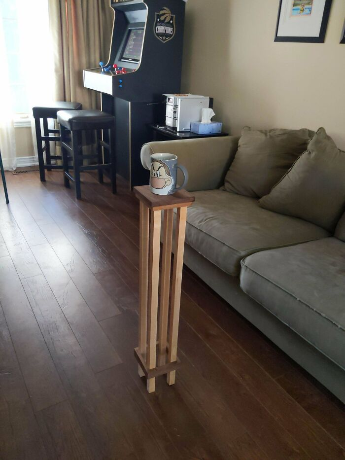 Hice una mesa de café. Creo que las proporciones son perfectas
