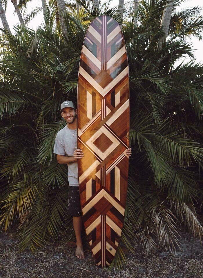 Longboard de madera hueca de 9 pies