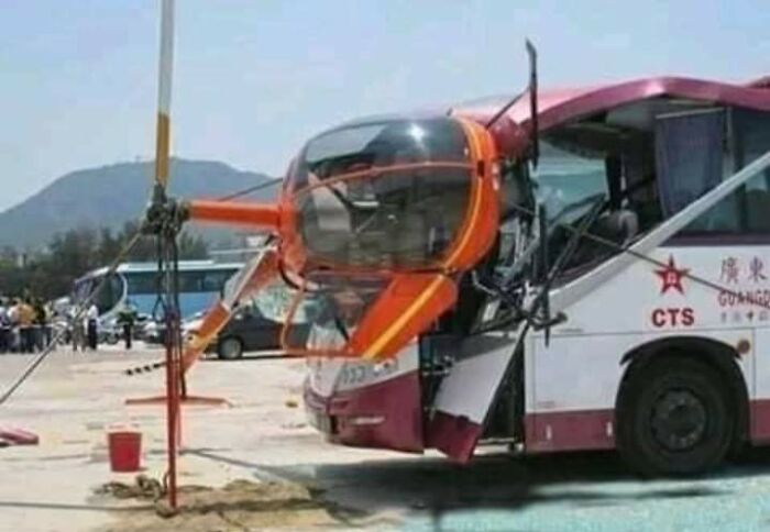 Not Entirely Sure How He Managed To Get The Helicopter On Its Side