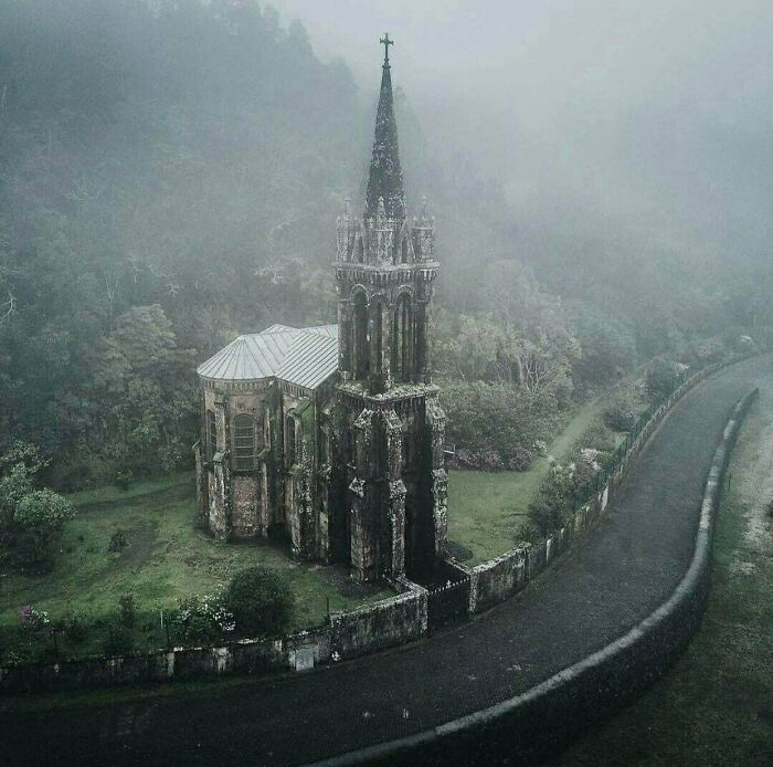 Abandoned Gothic Church In Portugal