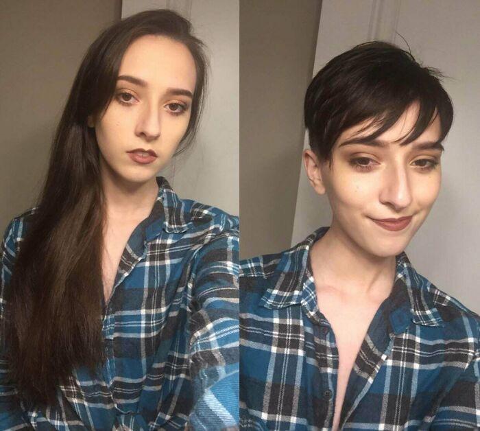Siempre he tenido el pelo largo, ya era hora de cambiarlo