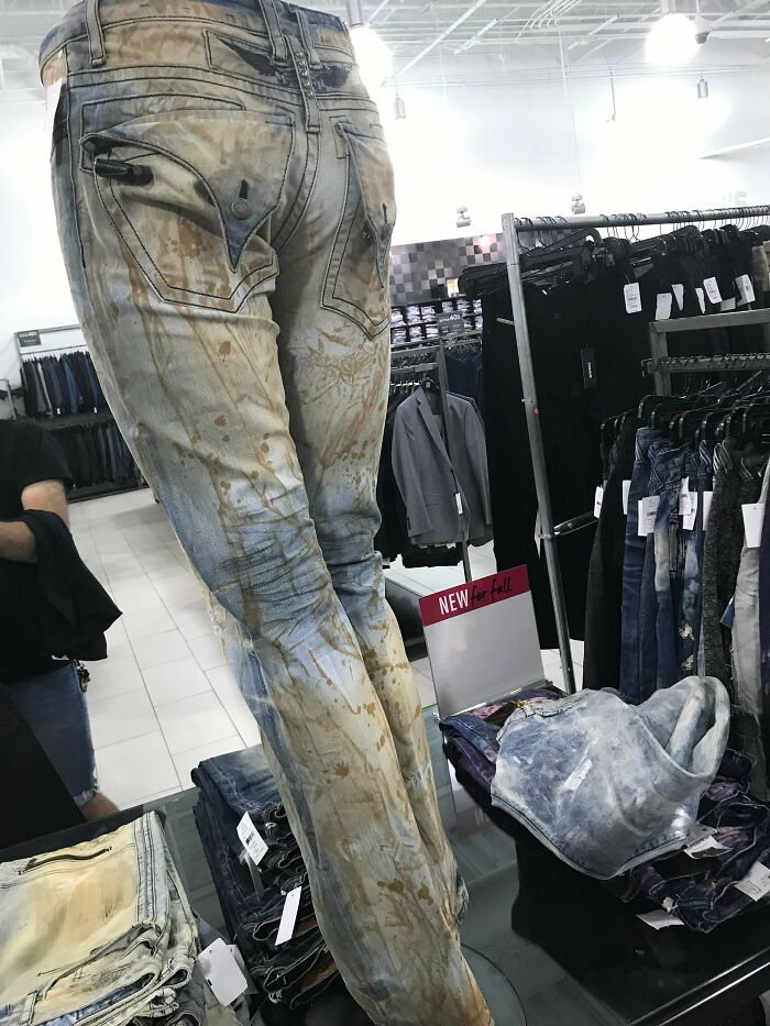 """These """"Designer Jeans"""" Look Like They're Covered In Poop Stains"""