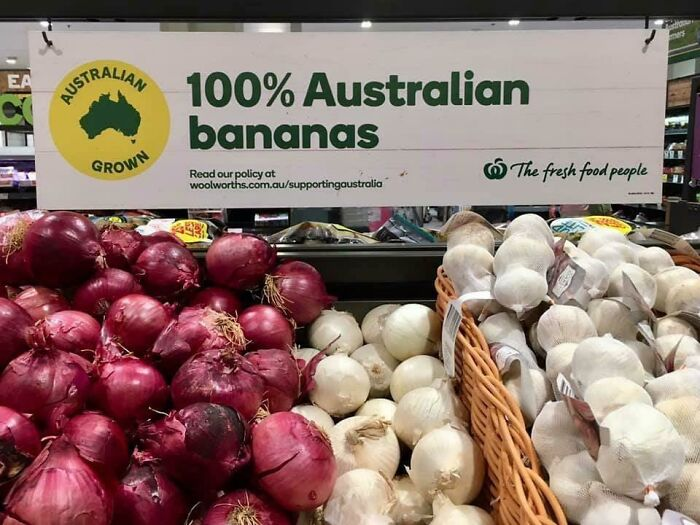 You're Used To American Bananas. These Are Australian Bananas. That's Why You're Confused