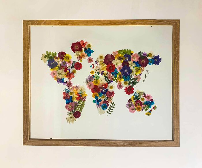 Map I Made Out Of Pressed Flowers!