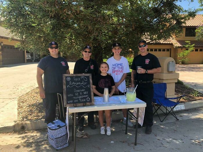 We Lost Everything In A House Fire Two Days Ago. Our Little Neighbor Did A Lemonade Stand To Raise Money For Us