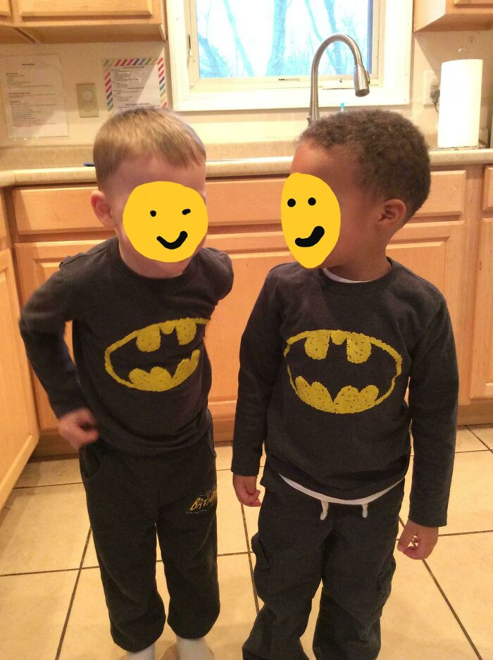 My 3-Year-Old Son Was Worried People Wouldn't Be Able To Tell Him And His Best Friend Apart Because Of Their Matching Shirts